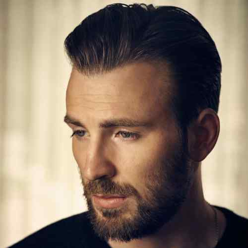 chris evans beard styles