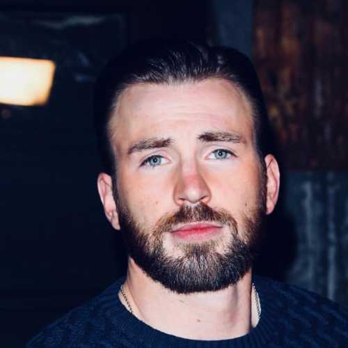 chris evans haircut short beard style