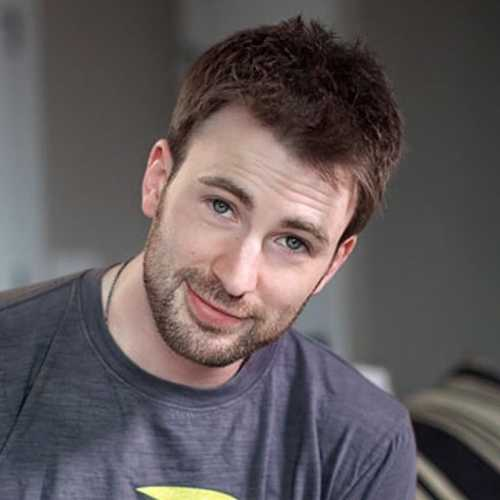 chris evans haircut short hairstyle