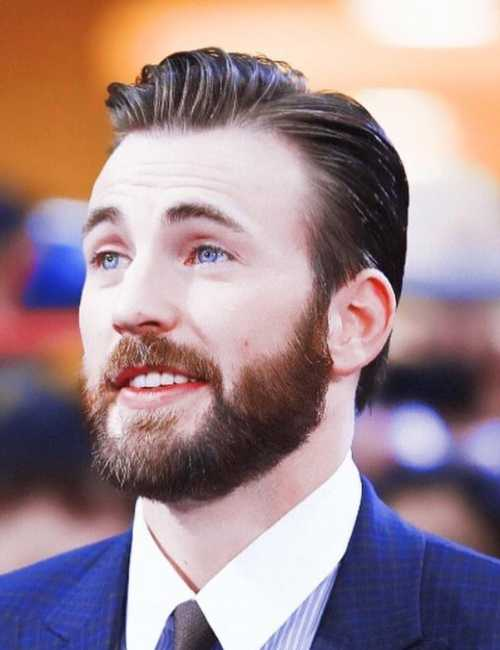 chris evans haircut with beard
