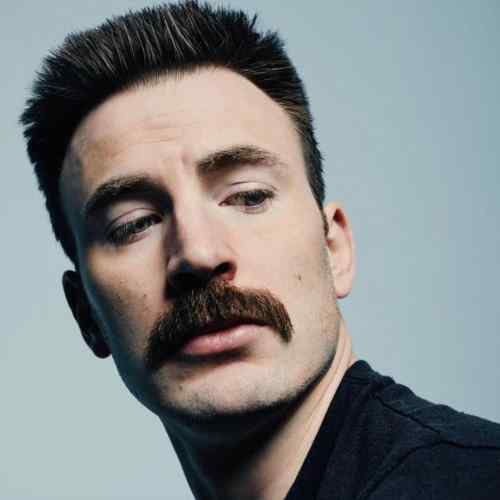 chris evans mustache