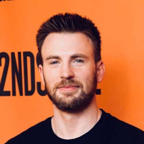chris evans short spiky haircut
