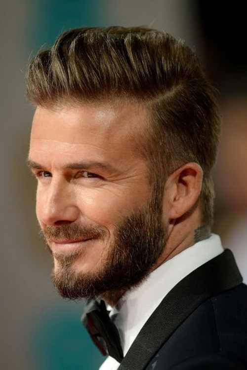 david beckham long haircut beard style
