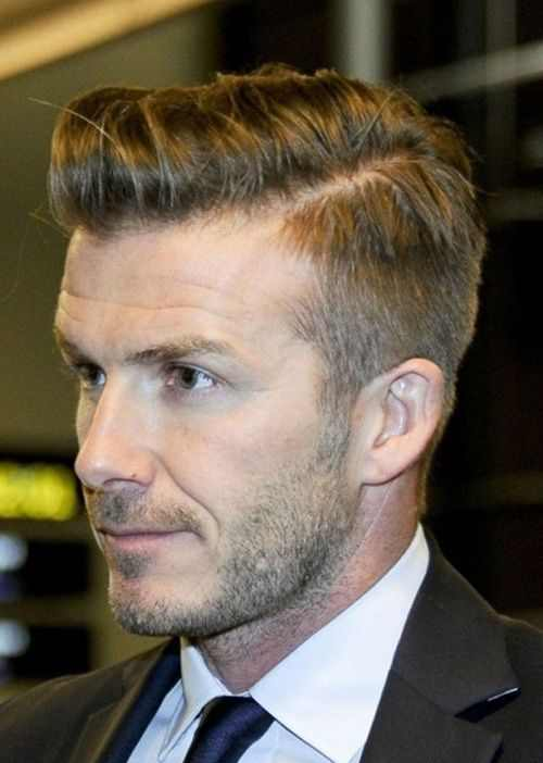 david beckham short haircut comb over pomp