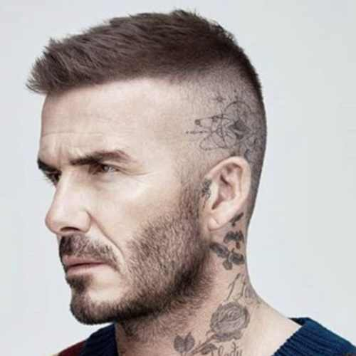 david beckham short haircut high fade skin fade