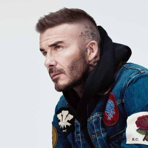 david beckham short spiky haircut temple fade haircut
