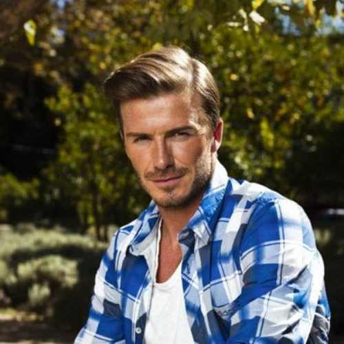 david beckham side part pompadour beautiful hairstyle