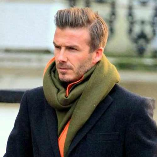 david beckham winter hairstyle