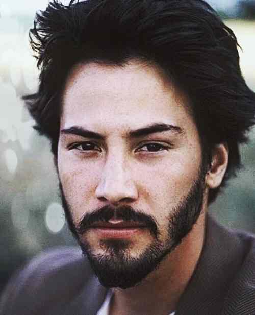 keanu reeves beard style
