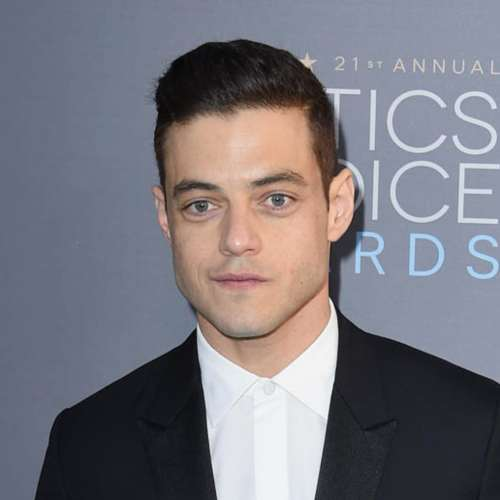 rami malek comb over pomp haircut