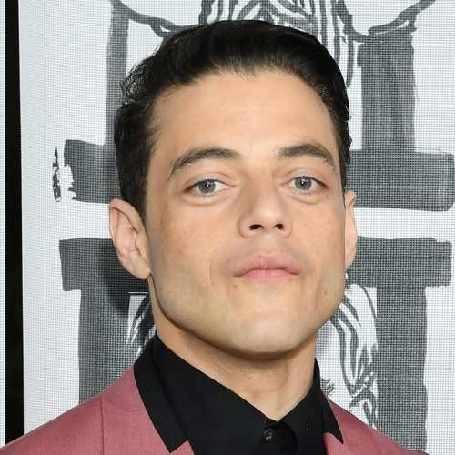 rami malek slicked hairstyle