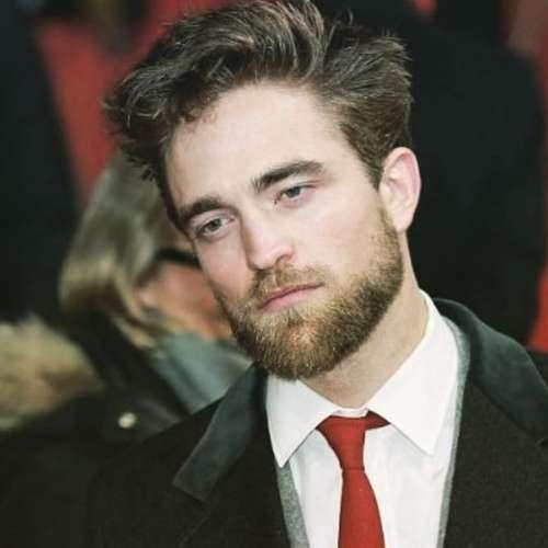 robert pattinson new hairstyle with beard