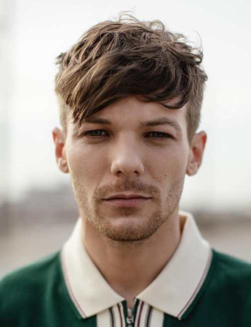 Louis Tomlinson Hairstyle side part fade haircuts