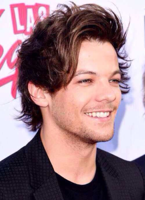 Louis Tomlinson long hairstyle