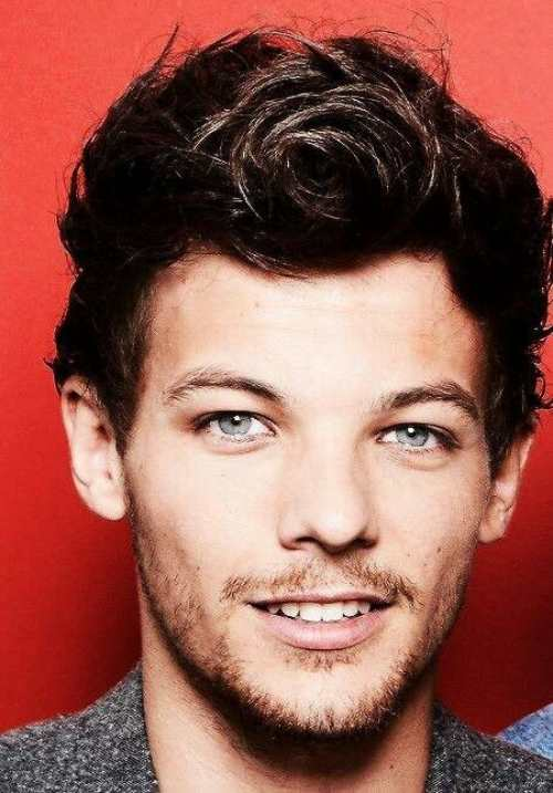 Louis Tomlinson short hair circle style