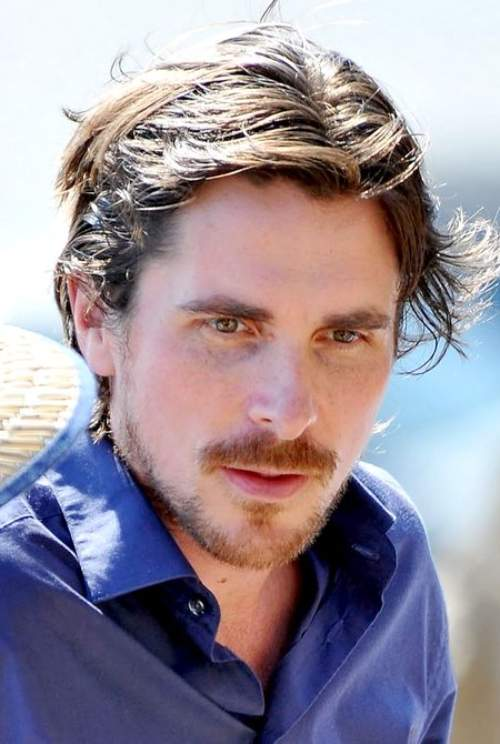 christian bale messy long hairstyle