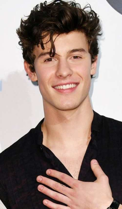 shawn mendes curly new haircut