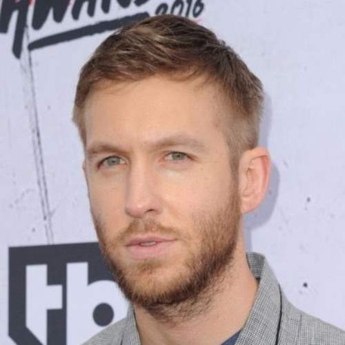calvin harris side part fade hairstyle