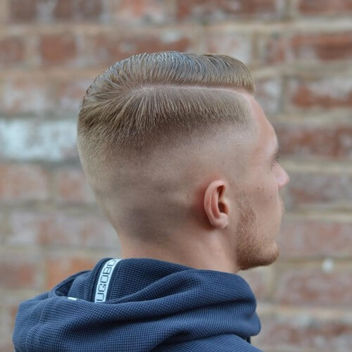 high skin fade top with bald fade haircut
