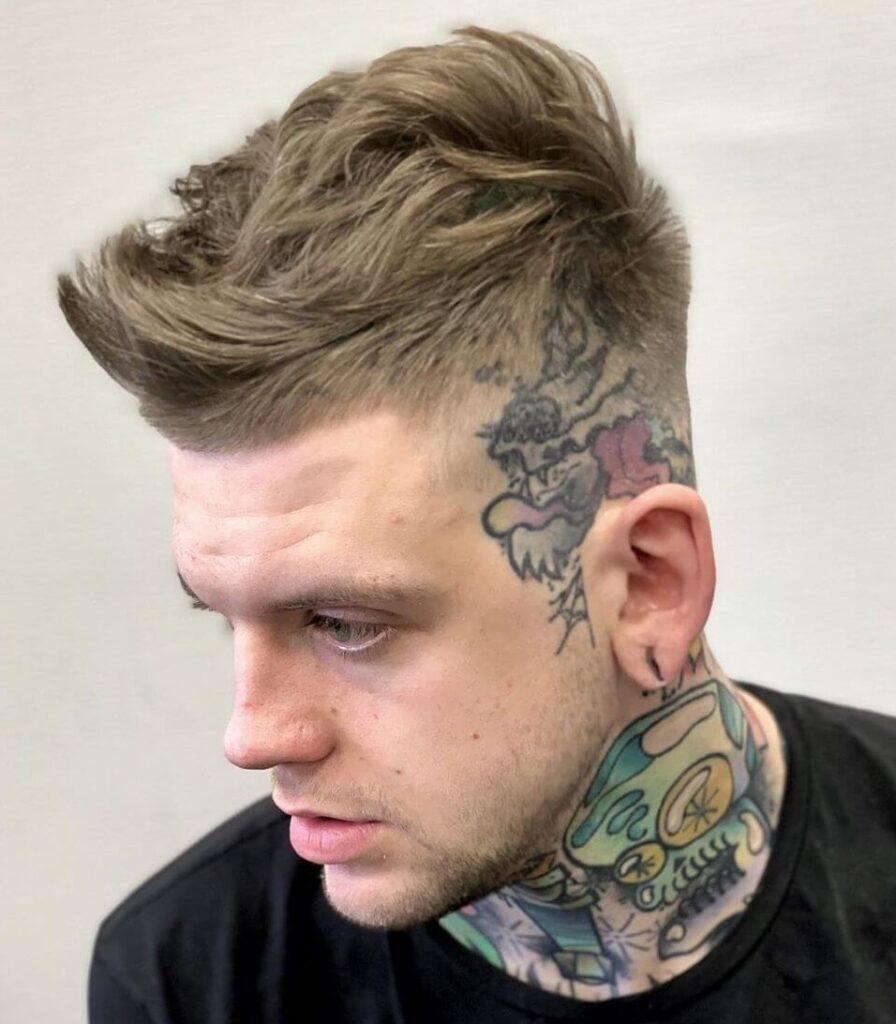 alan_beak short length spiky hair fuckboi haircut