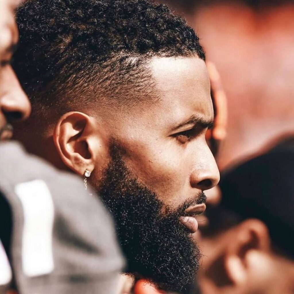 how to get odell beckham curls with taper fade haircut