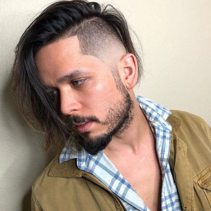 luiiisc_ long hold hair bad boy f boy haircut fade design