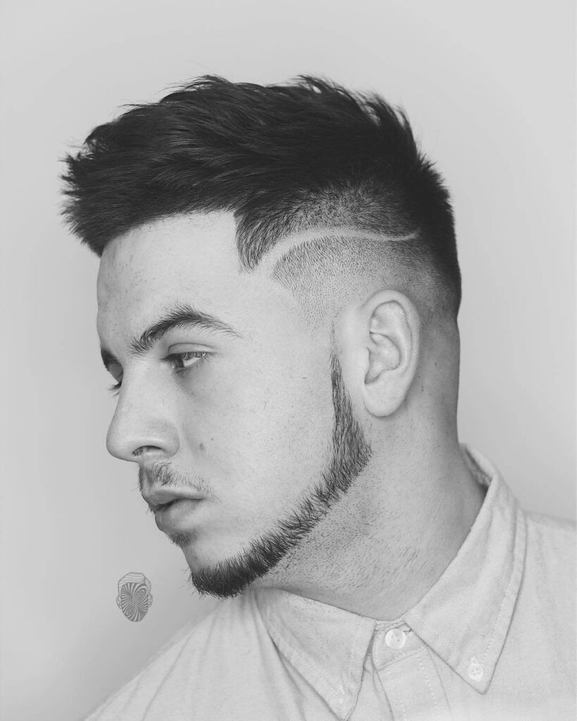 travisanthonyhair designed shaved line sharp beard fuck boy hairstyle