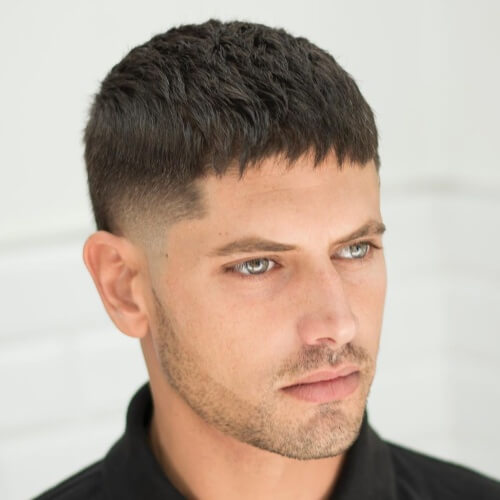 Fringe hair men mexican hairstyle fade