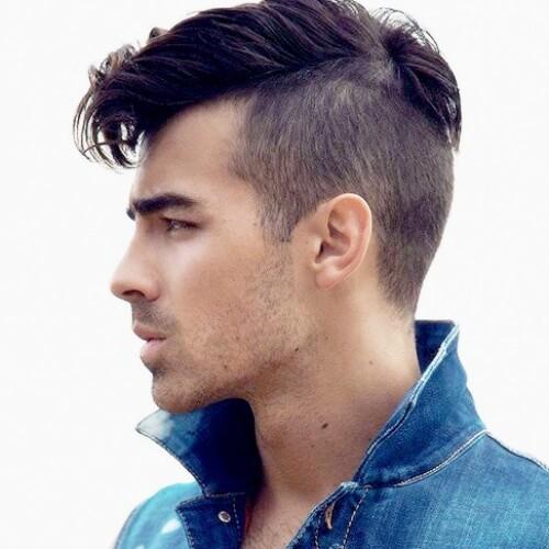 Joe jonas taper fade haircut curly hair
