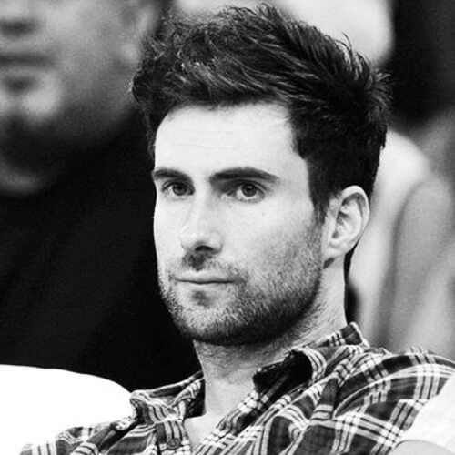 adam levine messy hairstyle