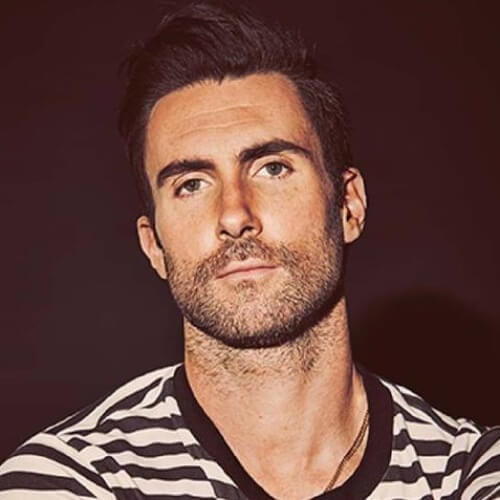 adam levine short pompadour haircut
