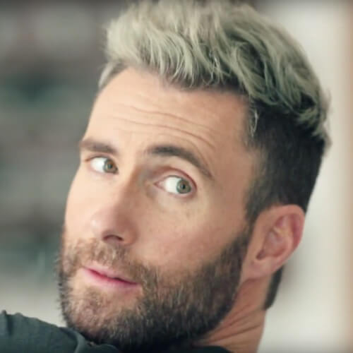 adam levine short white hair