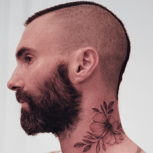 adam levine side bald fade haircut and adam levine tattoo