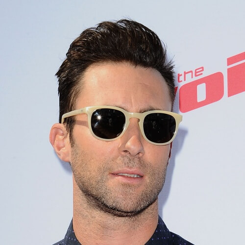adam levine wavy comb stylish haircut