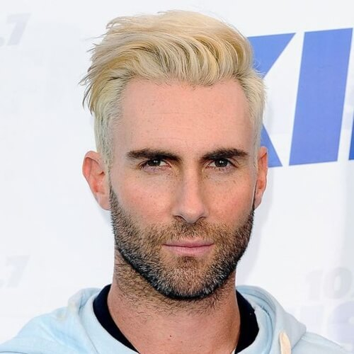 adam levine white hair