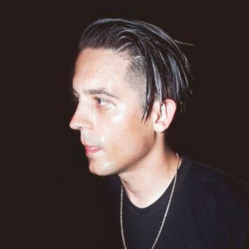 g eazy long hair one side cut