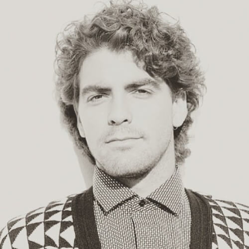 george clooney curly hair