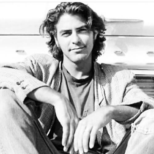 george clooney long hairstyle