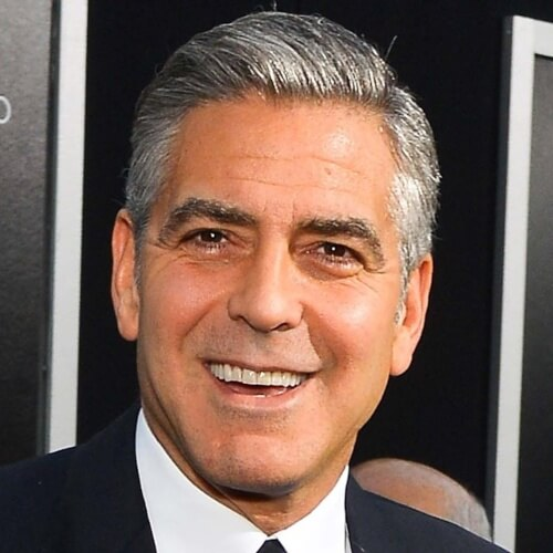 george clooney old white haircut
