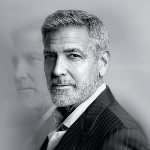 george clooney perfect men's hairstyle
