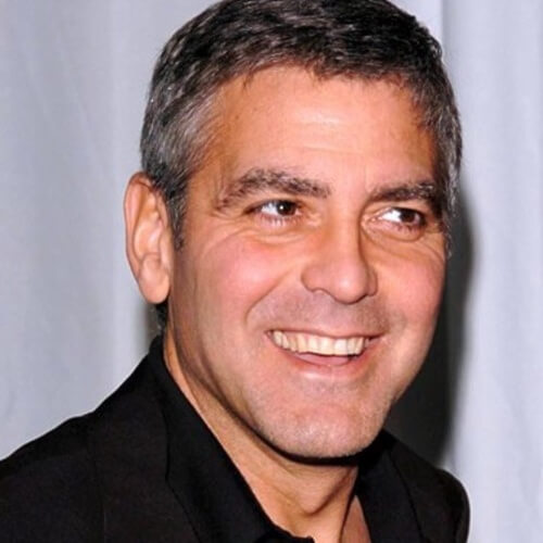 george clooney simple short hairstyle