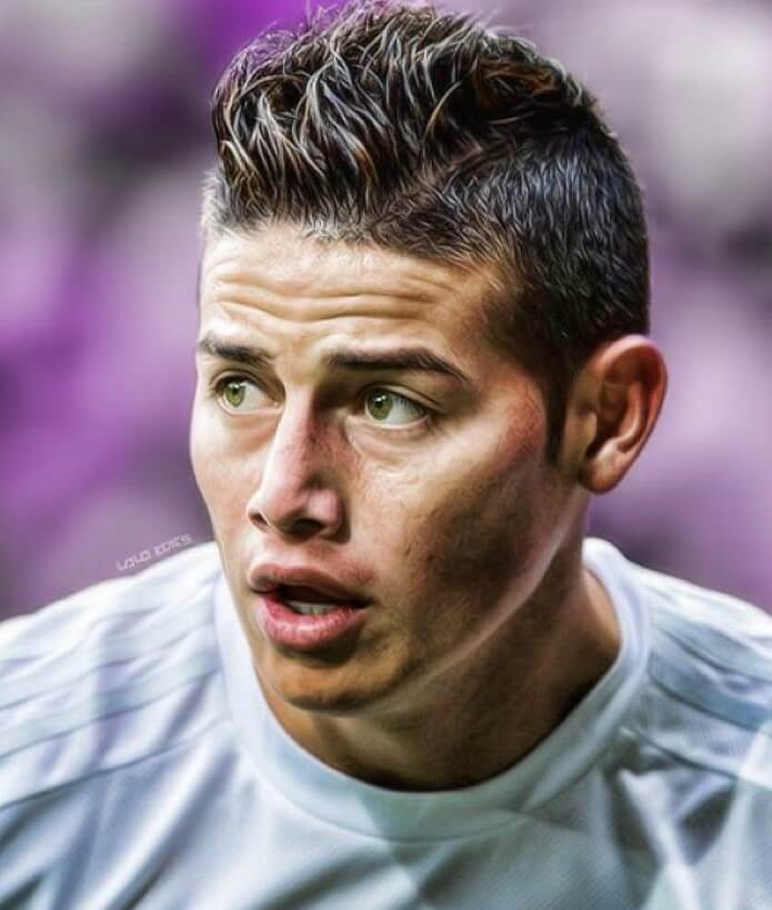 james rodriguez short spiky hair messy hairstyle