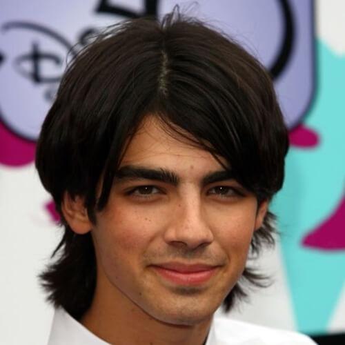 joe jonas young long hair