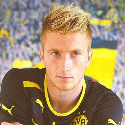 marco reus hair textured spiky boy haircut