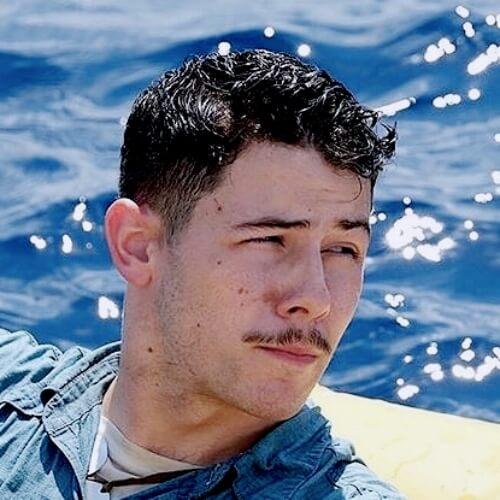 nick jonas mustache