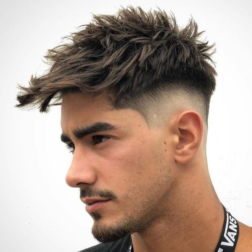 teen boy haircut side taper fade spiky messy mexican haircuts