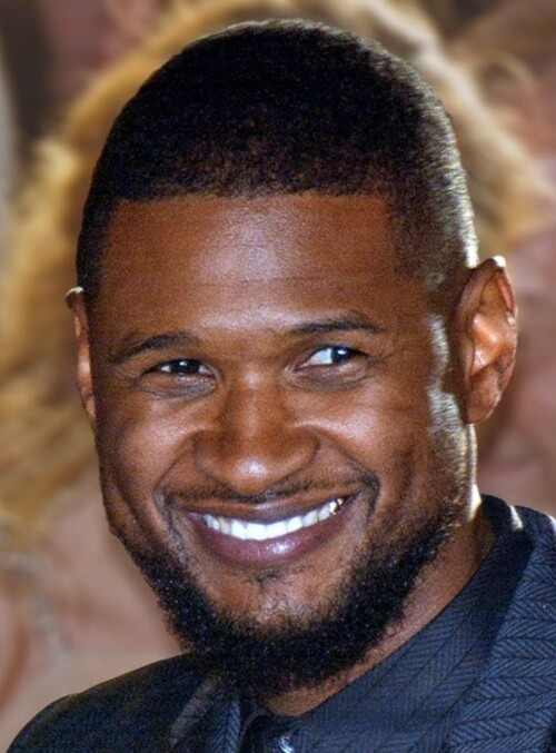 usher hair cut short buzz cut