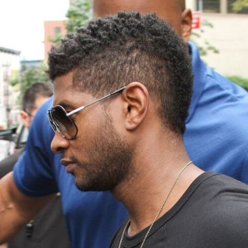 usher mohawk short haircut new design
